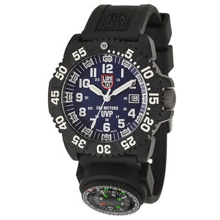 Luminox Men's 'Navy Seal Colormark Scott Cassell' Polycarbonate Carbon Swiss Quartz Watch