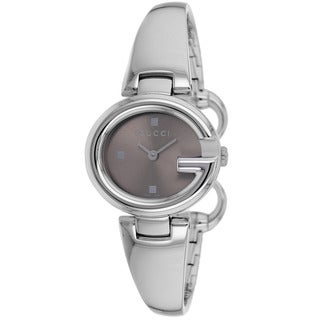 Gucci Women's YA134503 'Guccissima' Brown Dial Stainless Steel Watch