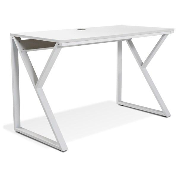 Tribeca White Steel Writing Desk