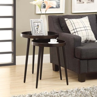 2-piece Cappuccino Nesting Table Set