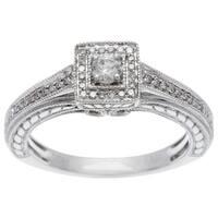 Sofia 10k White Gold 1/4ct TDW Princess Diamond Ring
