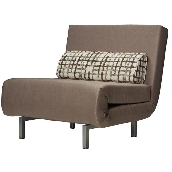 Shop Cortesi Home Savion Taupe Convertible Accent Chair