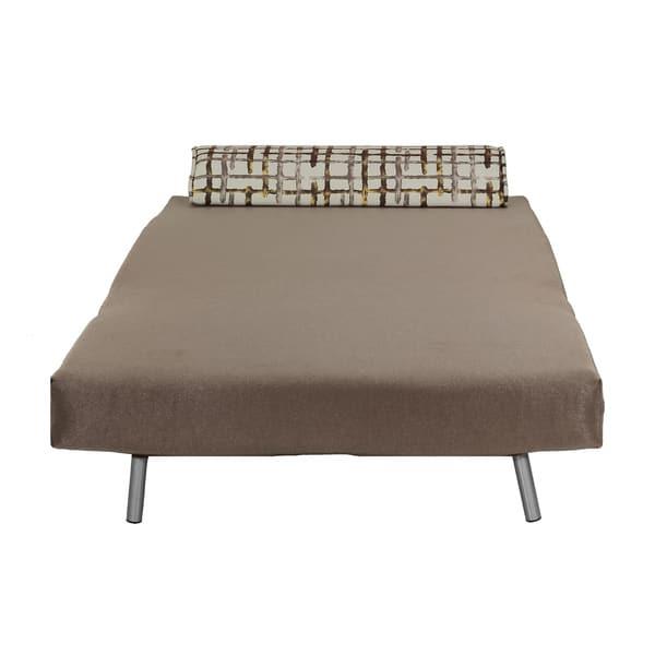 Sensational Shop Cortesi Home Savion Taupe Convertible Accent Chair Bed Dailytribune Chair Design For Home Dailytribuneorg