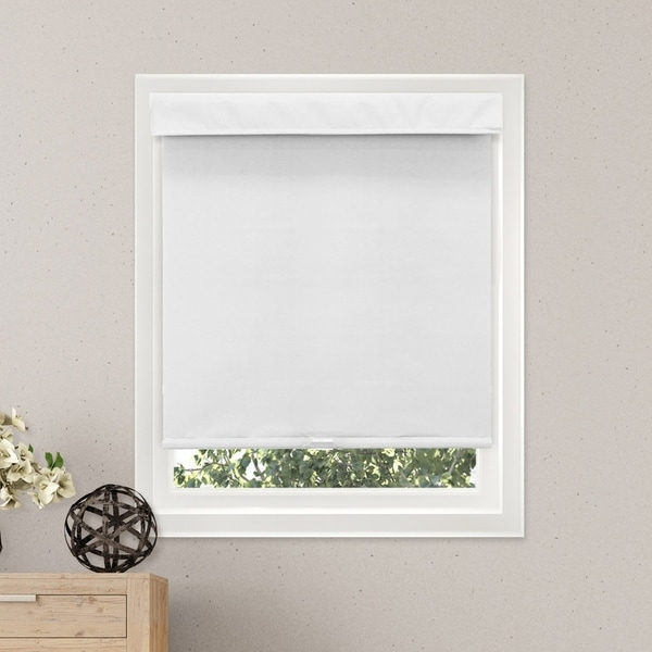 Chicology Free-Stop Cordless Roller Shade, Mountain - Thermal, Room Darkening - Mountain Snow
