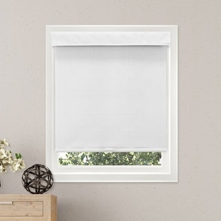 Chicology Free-Stop Cordless Roller Shade Privacy Fabric Thermal Mountain Snow 23-inch x 64-inch )