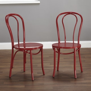 Simple Living Vintage Inspired Cafe Chairs (Set of 2)