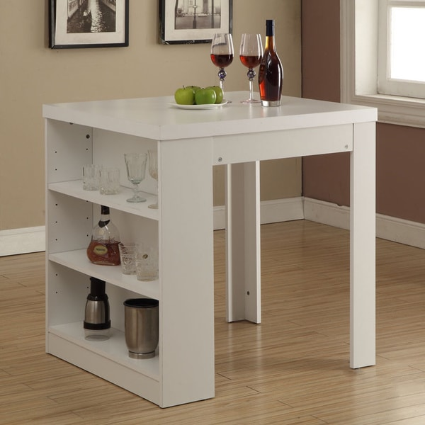 Shop White Hollow Core 32 X 36 Inch Counter Height Table