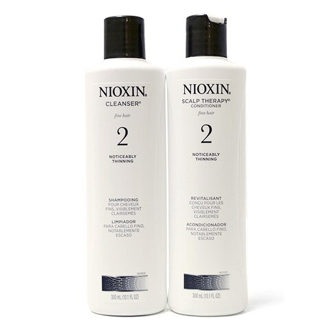 Nioxin System 2 10.1-ounce Cleanser & Scalp Therapy Duo