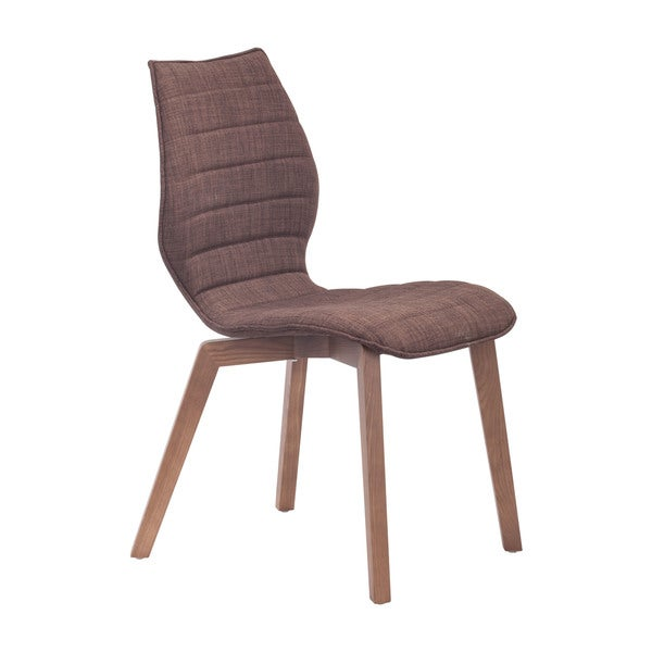 Aalborg Modern Brown or Grey Fabric and Wood Chairs (Set of 2)