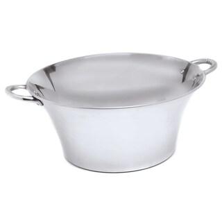 Polished Aluminum Round Tub