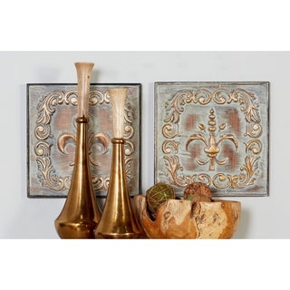 Benzara 4-piece Brown/Grey Alloy Wall Decor Set