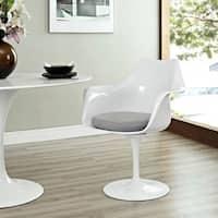 Tulip Grey Cushion Armchair