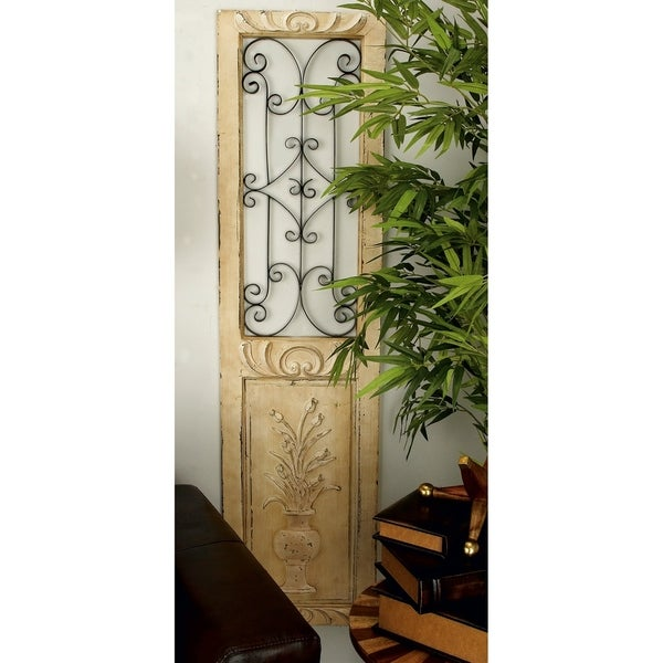 Studio 350 Wood Metal Wall Panel 62 inches high, 16 inches wide - White