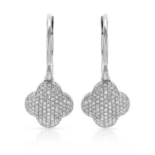 14k White Gold 2/5ct TDW Diamond Earrings (H-I, SI1-SI2)