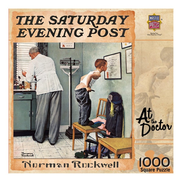 The Saturday Evening Post At the Doctor 1000-piece Puzzle