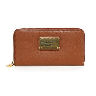 Marc by Marc Jacobs Large Zip Around Cinnamon Stick SLG Wallet