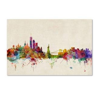 Michael Tompsett 'New York, New York' Canvas Art