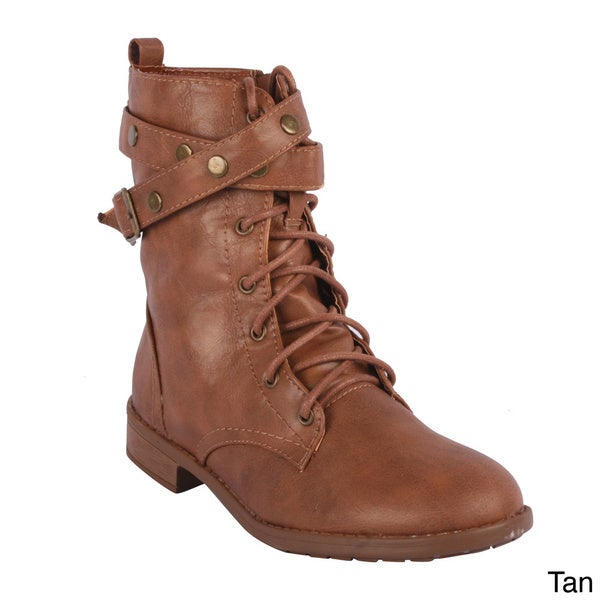 Forever Women's 'Justina-46' Lace-up Mid-calf Boots