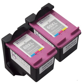 Sophia Global Remanufactured Ink Cartridge Replacements for HP 60XL (Pack of 2)