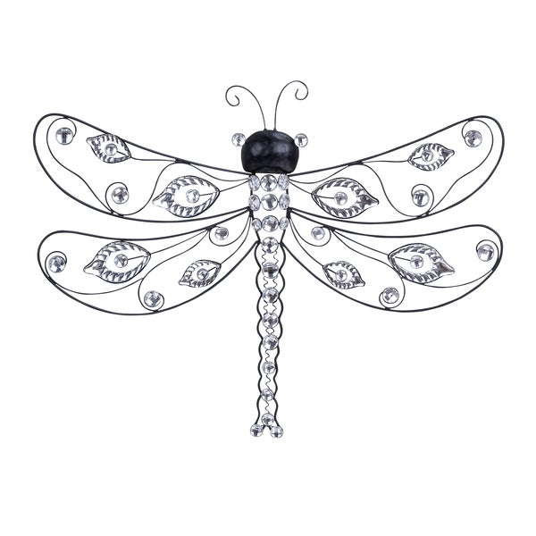 Whimsical Metallic Dragonfly Wall Decor