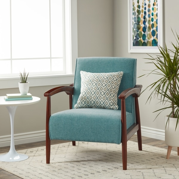Stock And Bolton Mid Century Accent Chair: Shop Strick & Bolton Gracie Mid Century Blue Arm Chair