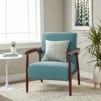 Carson Carrington Gracie Mid Century Blue Arm Chair