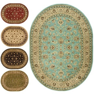 Ariana Palace Oval Light Area Rug (5'3 x 6'10)
