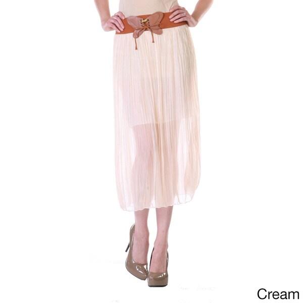 Stanzino Women's Chiffon Mid-Length Skirt