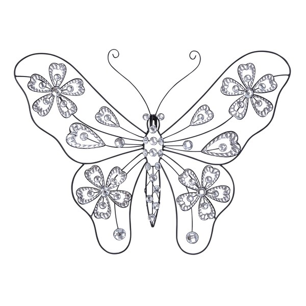 Creative Metal Acrylic Butterfly Wall Decor