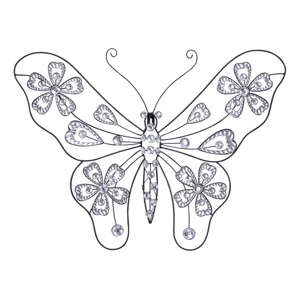 Studio 350 Metal Acrylic Butterfly 22 inches wide, 18 inches high