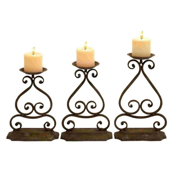 Iron Candle Stand Designs : Elegant design and structure wrought iron candle holders