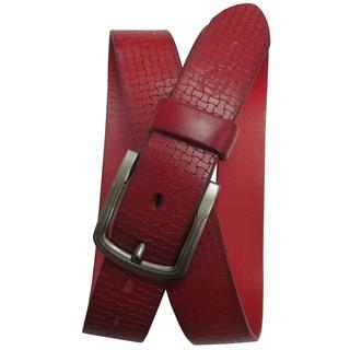 Amerileather Men's Woven Pattern Belt