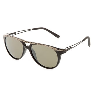 Serengeti 'Udine' Shiny Black Marble Sunglasses