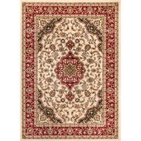 """Well Woven Medallion Traditional Ivory Mat Accent Rug - 2'3"""" x 3'11"""""""