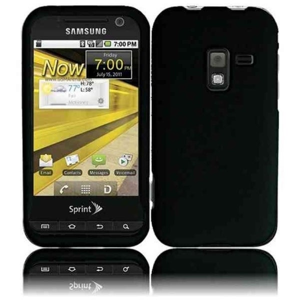 INSTEN Black Rubberized Matte Hard Plastic PC Snap-on Phone Case Cover for Samsung Galaxy Attain 4G