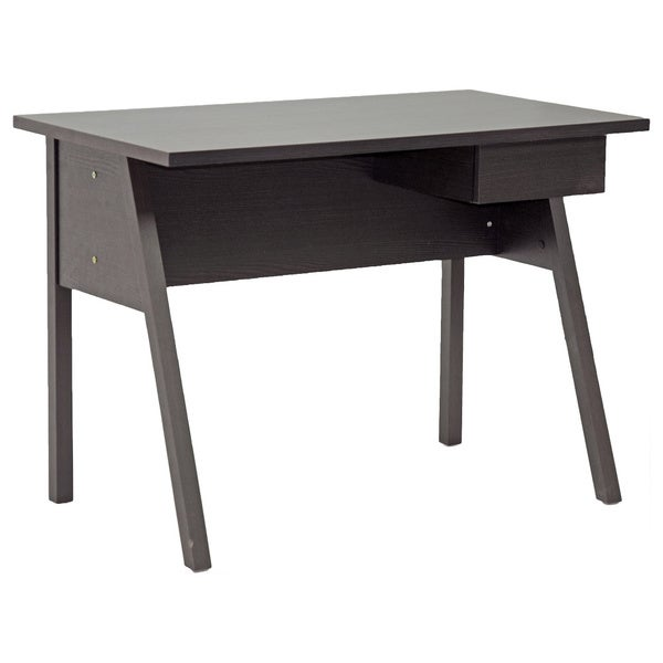 Frommes Dark Brown/ Espresso Modern Home Office Desk   Free Shipping Today    Overstock.com   15907797