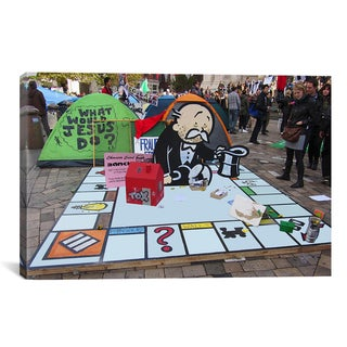 iCanvas Banksy 'Monopoly (Occupy London)' Gallery Wrapped Canvas Print Wall Art
