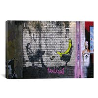 iCanvas Banksy 'Bananas with Psychological Problem' Gallery Wrapped Canvas Print Wall Art