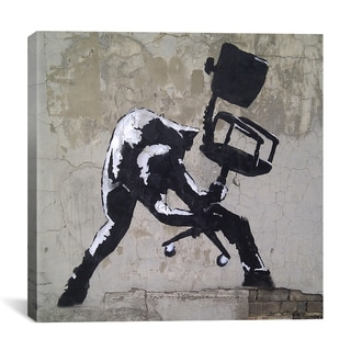 iCanvas Banksy 'London Calling' Gallery Wrapped Canvas Print Wall Art