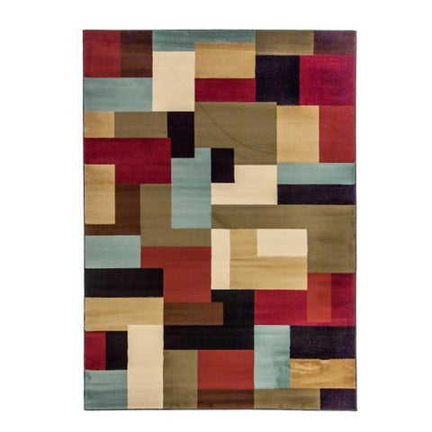 "Well Woven Patchwork Red Area Rug - 3'11"" x 5'3"""