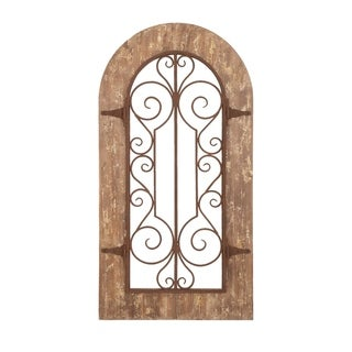 Link to Studio 350 Wood Metal Wall Panel 38 inches high, 20 inches wide Similar Items in Outdoor Coffee & Side Tables