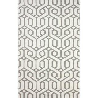 nuLOOM Hand-hooked Indoor/ Outdoor Trellis Grey Rug (5' x 8')