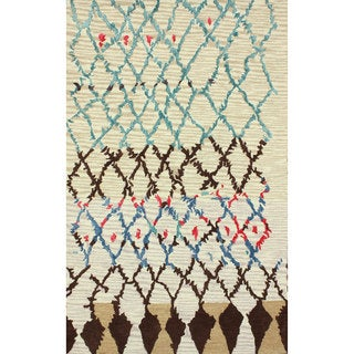 nuLOOM Hand-tufted Moroccan Berber Wool/ Faux Silk Ivory Rug (7'6 x 9'6)