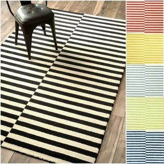 Nuloom Hand-tufted Modern Stripes New Zealand Wool Area Rug (5' x 8')