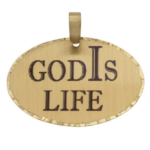 Simon Frank 'God Is Life' Religious Charm Pendant