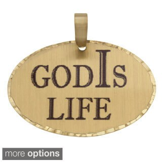 Simon Frank 'God Is Life' Religous Charm Pendant