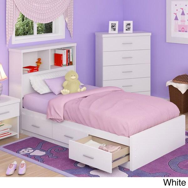 Sonax 2-piece Single Storage Bed Set with Bookcase Headboard