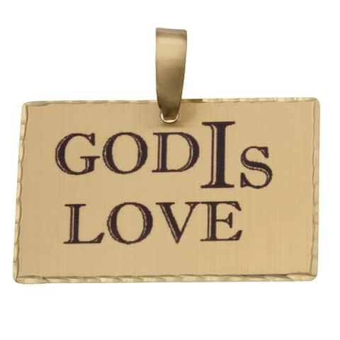 Simon Frank 'God IS Love' Religious Charm Pendant