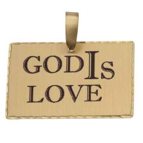 Simon Frank 'God IS Love' Religious Charm Pendant