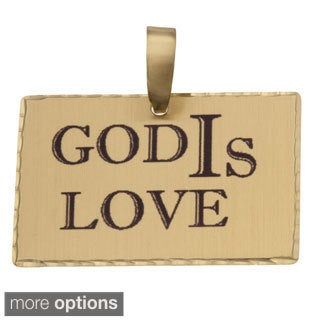 Simon Frank 'God IS Love' Religous Charm Pendant